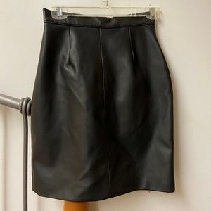 Faux Black Leather Skirt Size 9/10
